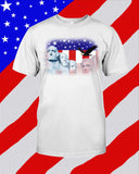 Mount Rushmore, American Flag Unisex T-Shirt - Any Color Shirt Available