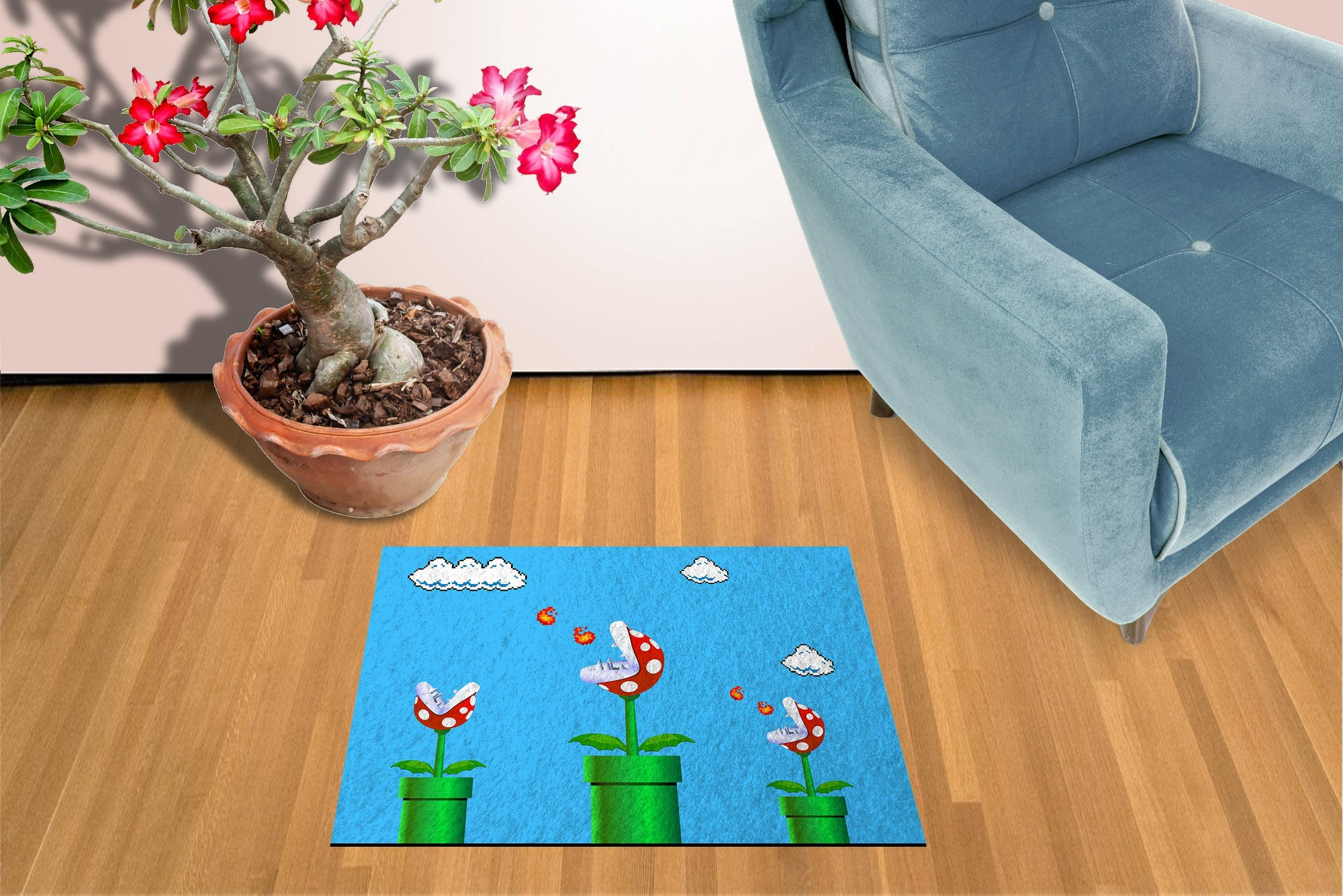 "Piranha Plant Super Mario - 18"" x 24"" Doormat Welcome Floormat"