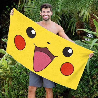 "Pikachu Pokemon 30"" x 60"" Microfiber Beach Towel"