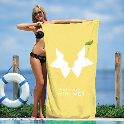 "Paopu Fruit - Want to share it with me? 30"" x 60"" Microfiber Beach Towel"