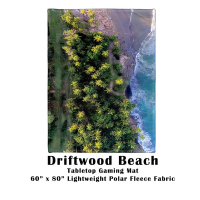"Driftwood Beach Tabletop Battle Gaming War Mat  60"" x 80"" Polar Fleece"