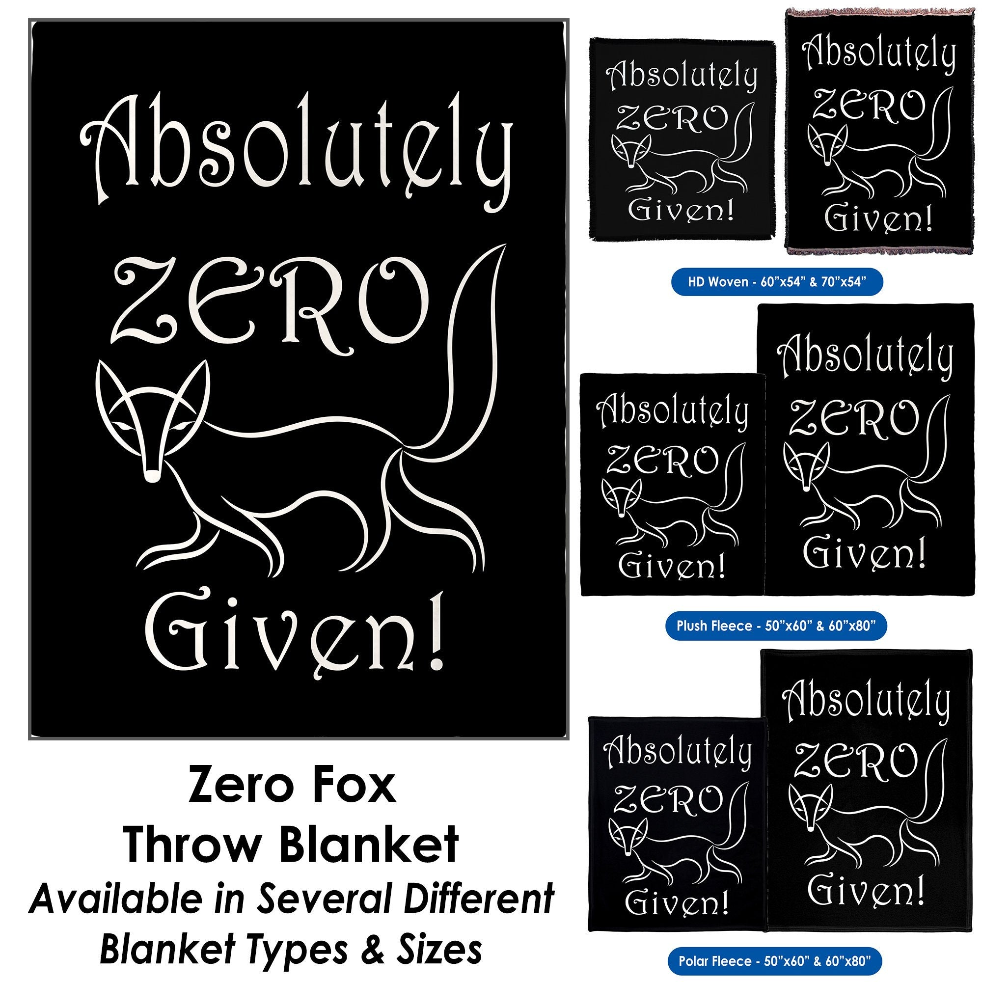 Zero Fox – Throw Blanket / Tapestry Wall Hanging