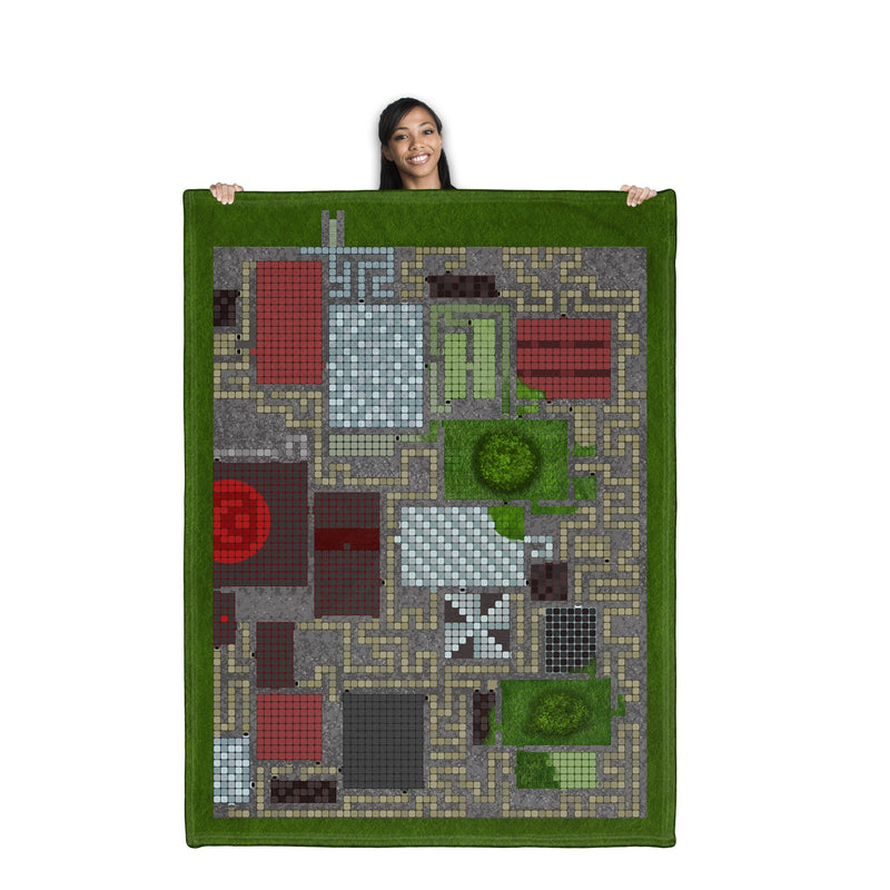 "Dungeons and Dragons Style Gaming Mat Full Dungeon 60"" x 80"""