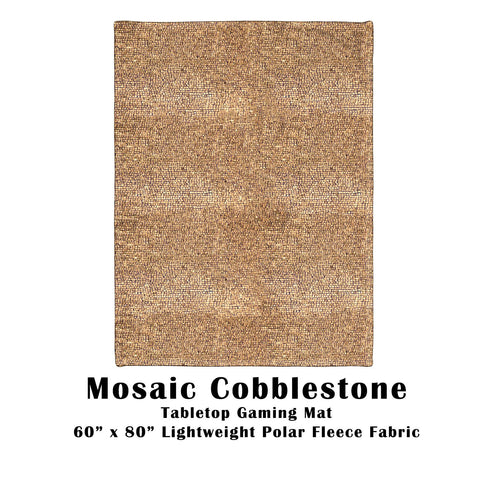 "Mosaic Cobblestone Tabletop Battle Gaming War Mat  60"" x 80"" Polar Fleece"