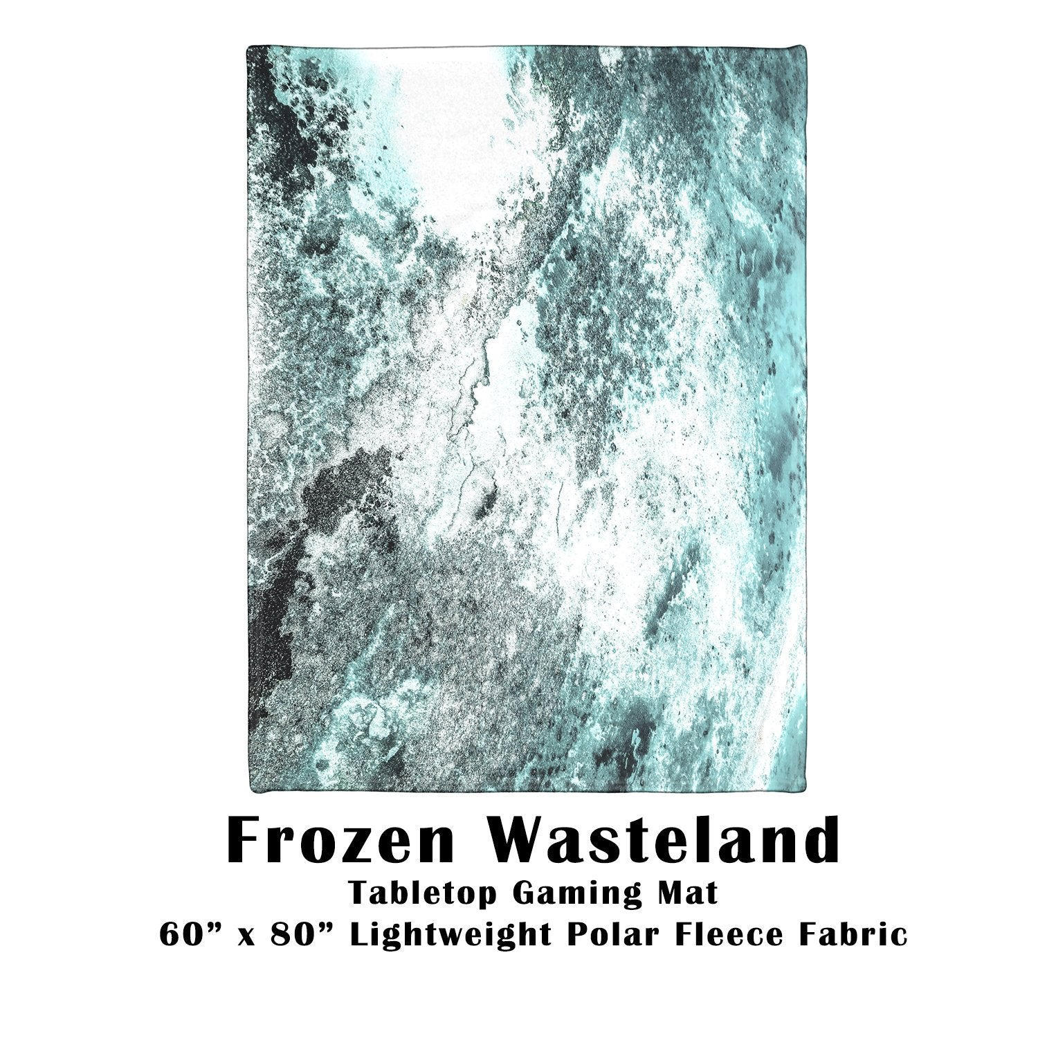 "Frozen Wasteland Tabletop Battle Gaming War Mat  60"" x 80"" Polar Fleece"