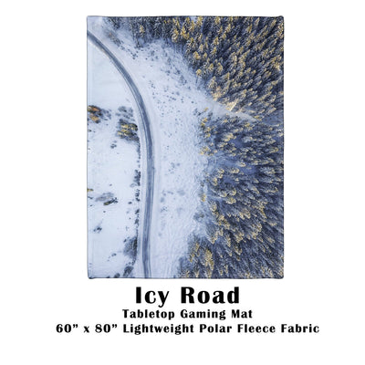"Icy Road Battle Gaming War Mat  60"" x 80"" Polar Fleece"