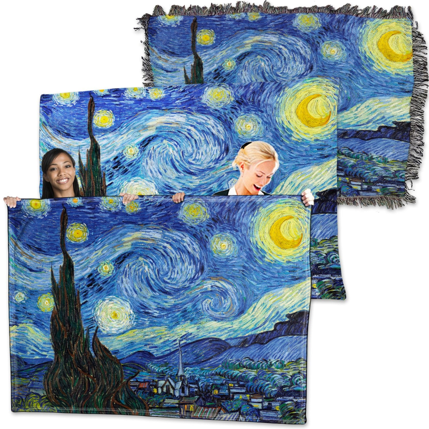 Vincent Van Gogh – Starry Night – Throw Blanket / Tapestry Wall Hanging