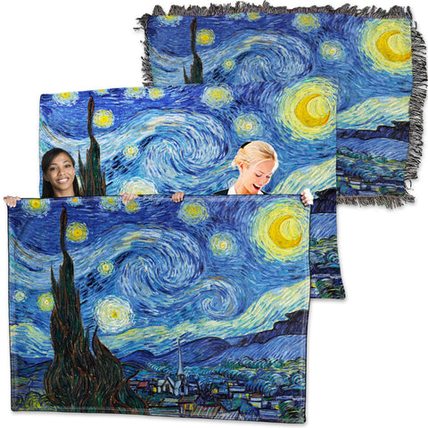 Vincent Van Gogh - Starry Night - Throw Blanket / Tapestry Wall Hanging