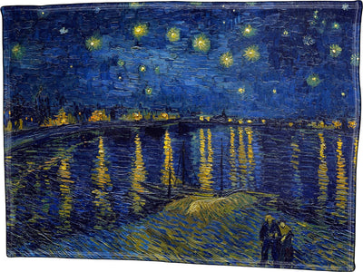 Vincent Van Gogh, Starry Night Over The Rhone - Throw Blanket / Tapestry Wall Hanging
