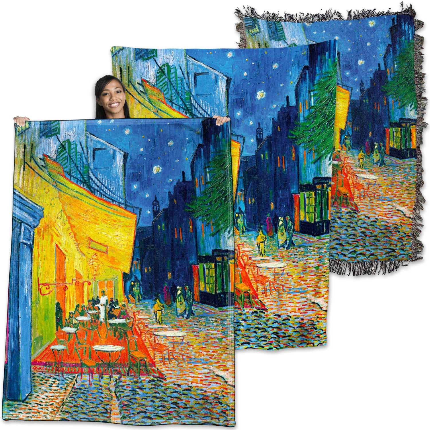 Vincent Van Gogh, Cafe Terrace At Night - Throw Blanket / Tapestry Wall Hanging