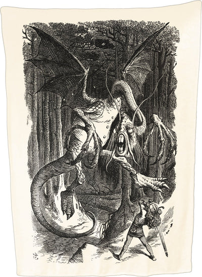 Jabberwocky (Alice Through the Looking Glass) - Throw Blanket / Tapestry Wall Hanging