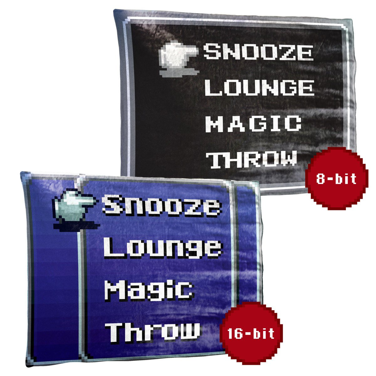 Retro RPG Menu Coral Plush Fleece Throw Blanket / Tapestry Wall Hanging
