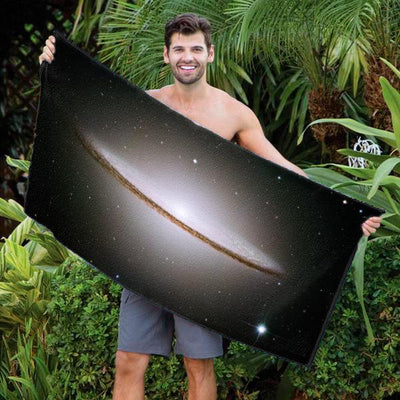 M104, the Sombrero Galaxy Beach Towel