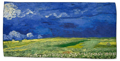 "Vincent Van Gogh's ""Wheatfield under a Cloudy Sky"" Beach Towel"