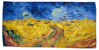 "Vincent Van Gogh's ""Wheatfield with Crows"" Beach Towel"