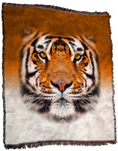 Tiger Face Throw Blanket / Tapestry Wall Hanging