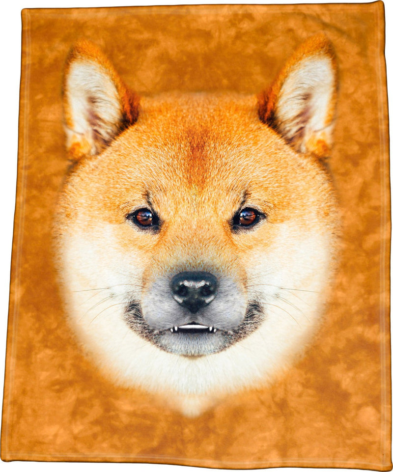 Shiba Inu Face Throw Blanket / Tapestry Wall Hanging