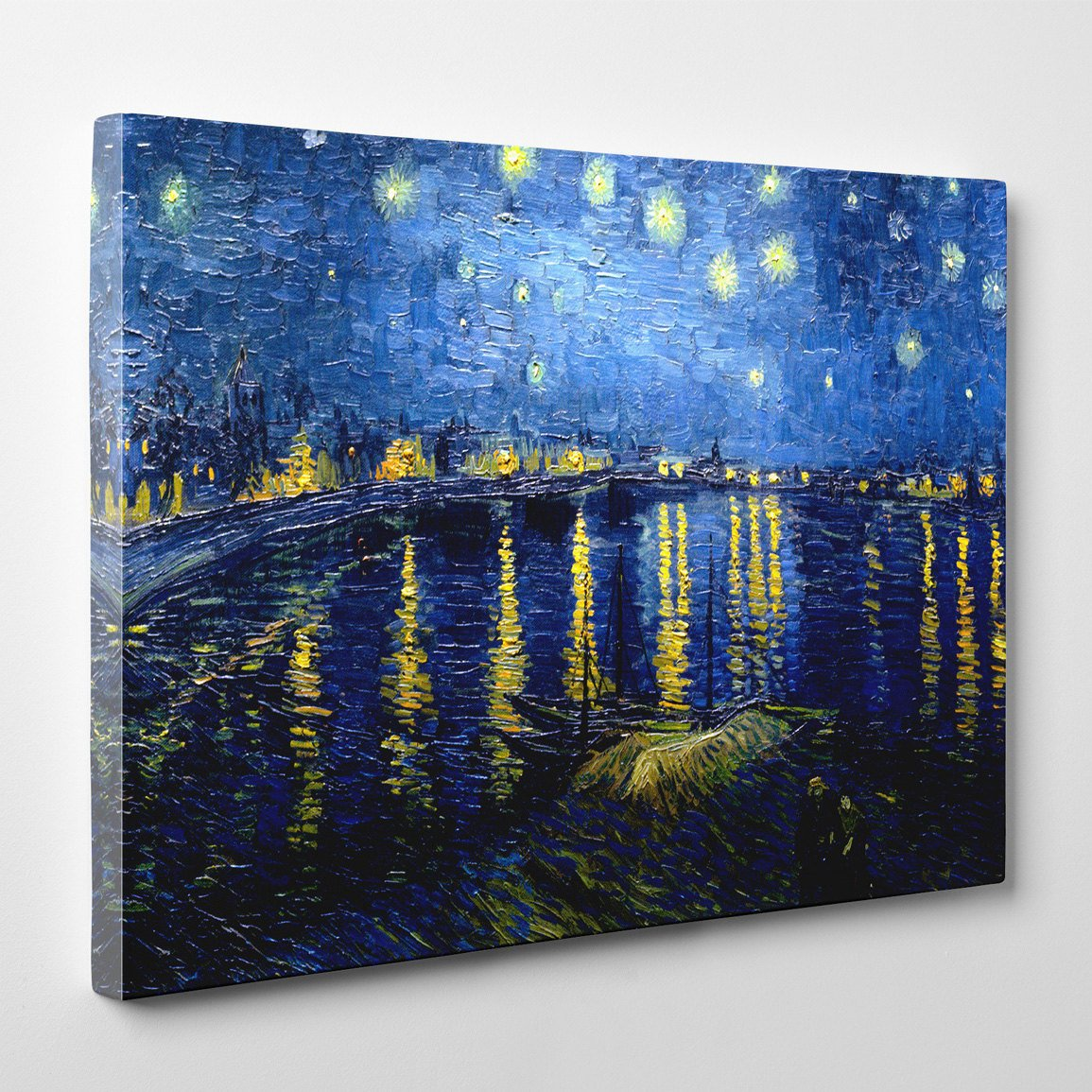 "Vincent van Gogh, ""Starry Night Over the Rhone"", 16″ x 24″ Canvas Gallery Wrap Print"