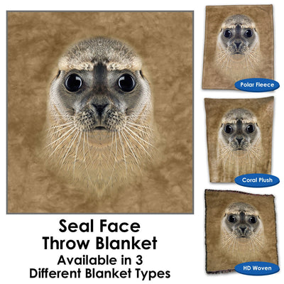 Seal Face Throw Blanket / Tapestry Wall Hanging