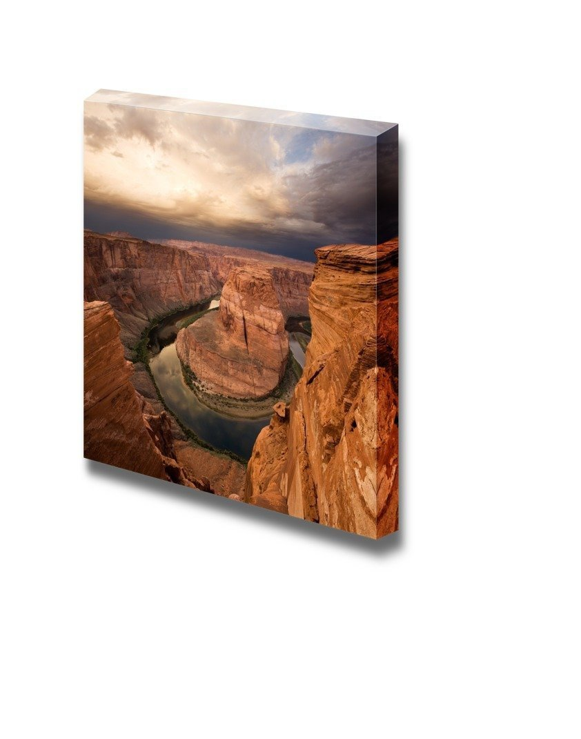Majestic Sunrise at Horseshoe Bend, Arizona with Colorado River, Gallery Canvas Wraps Giclee Print- 24 x 24