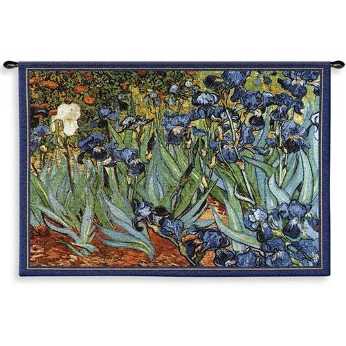 "Van Goghs Irises Wall Hanging - 53"" x 38"""