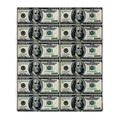 Throw Blanket / Tapestry Wall Hanging - One Hundred Dollar Bills - Standard Multi-color