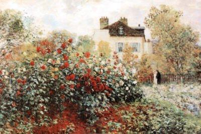 Canvas Gallery Wrap Claude Monet The Artist's Garden Art Print Poster - 24x36