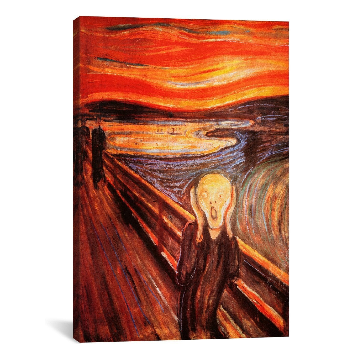 "Edvard Munch The Scream Canvas Art Print Painting Reproduction 24""x18"""