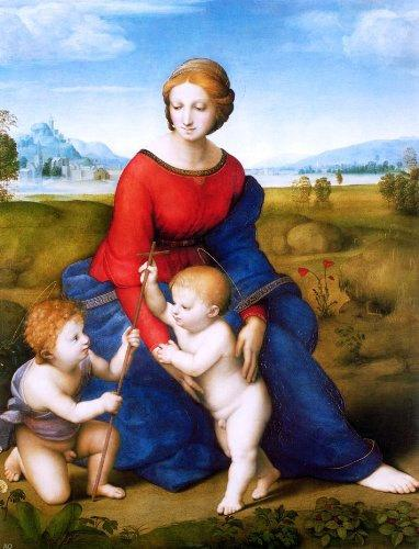 "Raphael Madonna of the Meadow (also known as Madonna del Prato) - 18"" x 24"" Premium Canvas Print Gallery Wrapped"