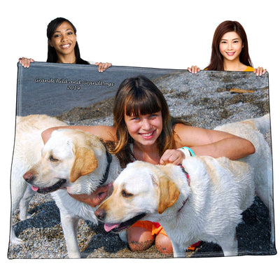 Personalized Polar Fleece Photo / Image Throw Blanket / Tapestry Wall Hanging