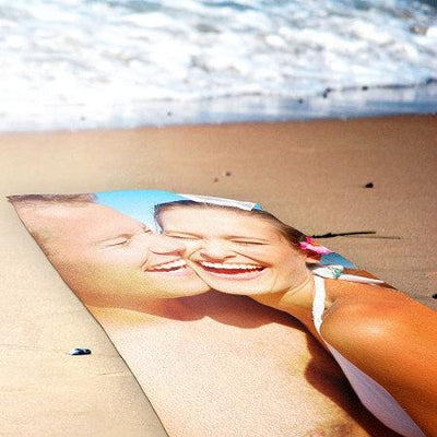 "Custom Photo Collage Beach Towel - 30"" x 60"""