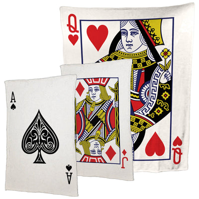 Playing Card Plush Fleece Throw Blanket / Tapestry Wall Hanging