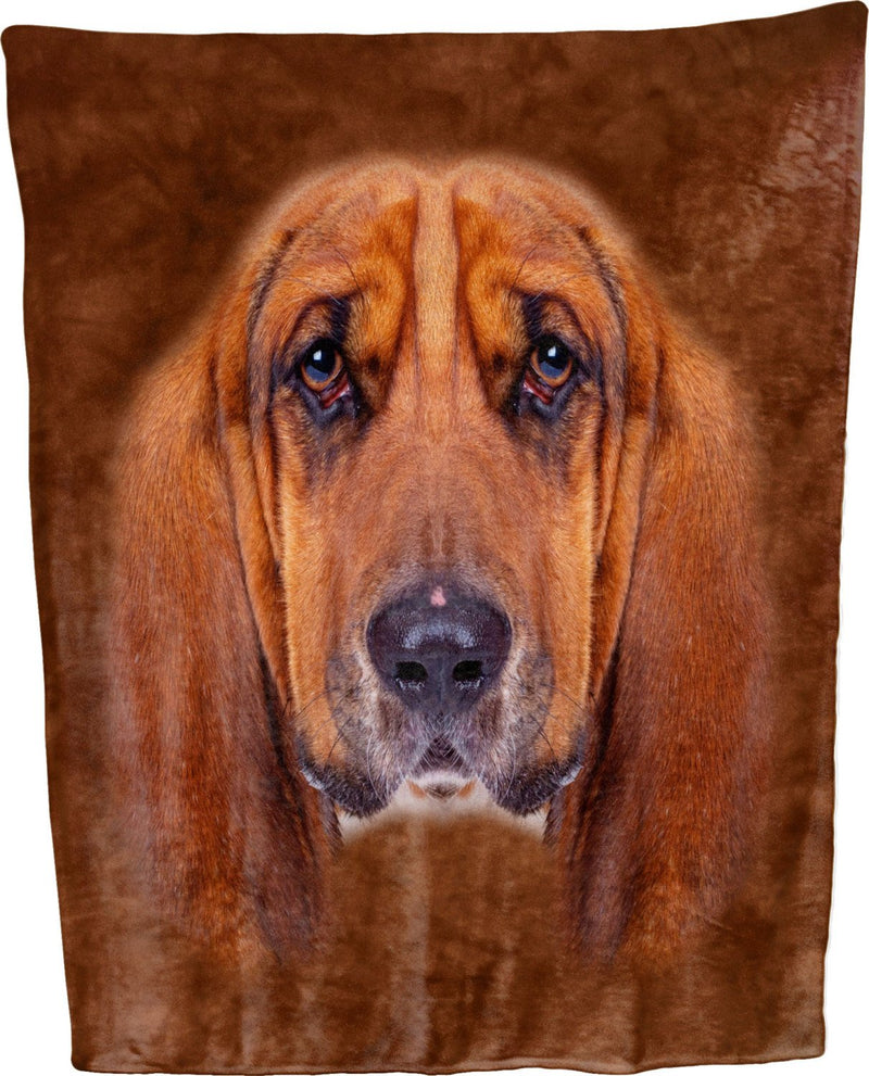 Basset Hound Face Throw Blanket / Tapestry Wall Hanging