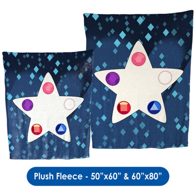 Crystal Gem Star - Throw Blanket / Tapestry Wall Hanging