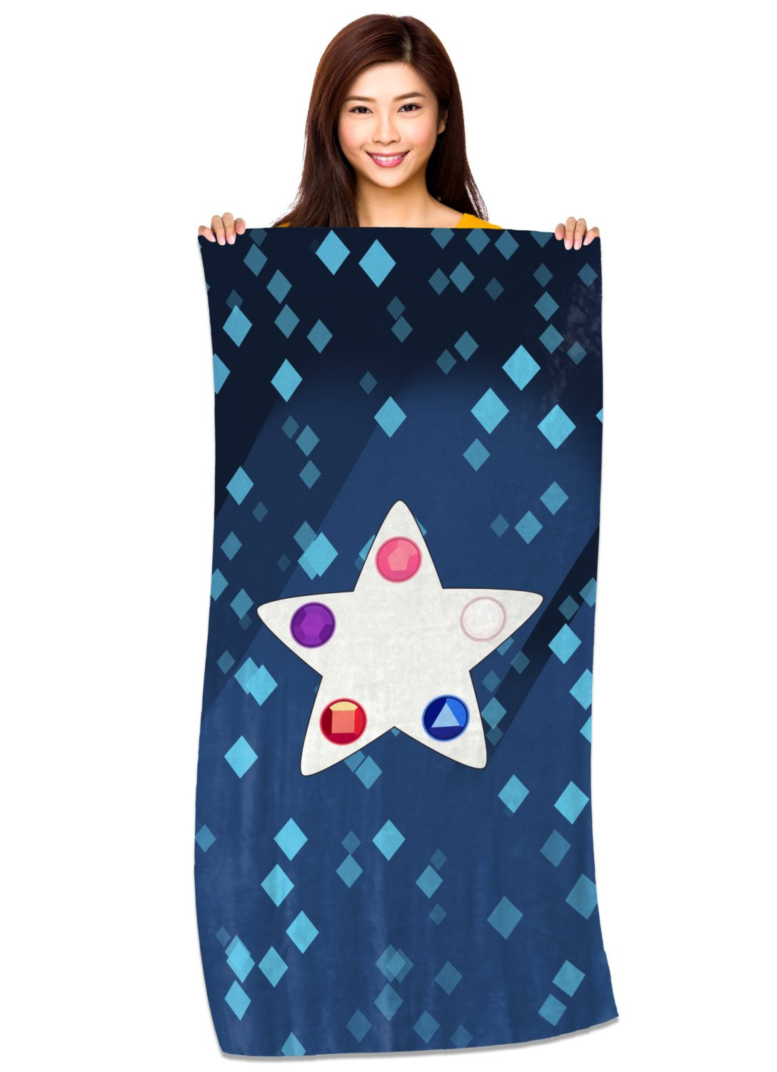 Crystal Gem Star - Microfiber Beach Towel