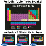 Periodic Table Throw Blanket / Tapestry Wall Hanging - Standard Multi-color