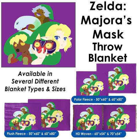 Majora's Mask Illustration - Throw Blanket / Tapestry Wall Hanging