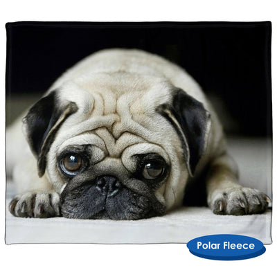 Sad Pug Throw Blanket / Tapestry Wall Hanging