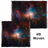 Infrared View of the Orion Nebula - Throw Blanket / Tapestry Wall Hanging