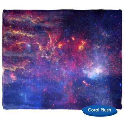 Center of the Milky Way Galaxy Throw Blanket / Tapestry Wall Hanging - Standard Multi-color