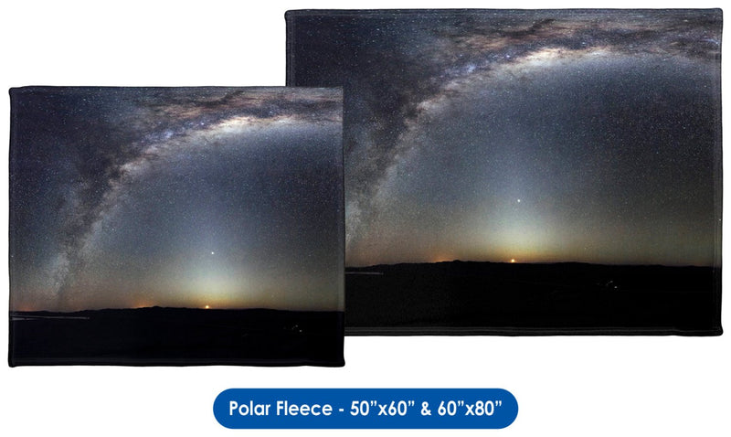 Panorama of the Southern Sky - Throw Blanket