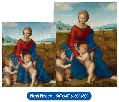 "Raphael's ""Madonna in the Meadow"" - Throw Blanket / Tapestry Wall Hanging"