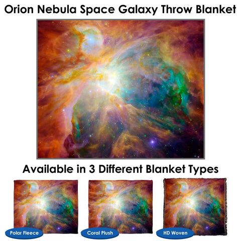 Orion Nebula Space Galaxy Throw Blanket / Tapestry Wall Hanging