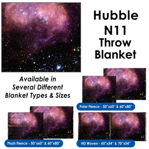 N11 Hubble Image - Throw Blanket / Tapestry Wall Hanging