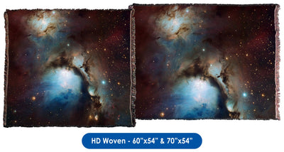 Messier 78 Nebula - Throw Blanket / Tapestry Wall Hanging