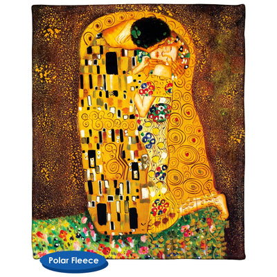 The Kiss Gustav Klimt Throw Blanket / Tapestry Wall Hanging - Standard Multi-color