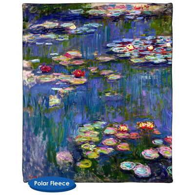 Water Lilies 1916 by Claude Monet Throw Blanket / Tapestry Wall Hanging - Standard Multi-color