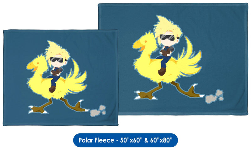 Chocobo Rider Cloud Throw Blanket / Tapestry Wall Hanging