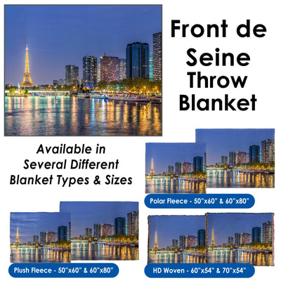 Front de Seine - Throw Blanket / Tapestry Wall Hanging