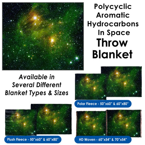Hydrocarbons In Space - Throw Blanket / Tapestry Wall Hanging